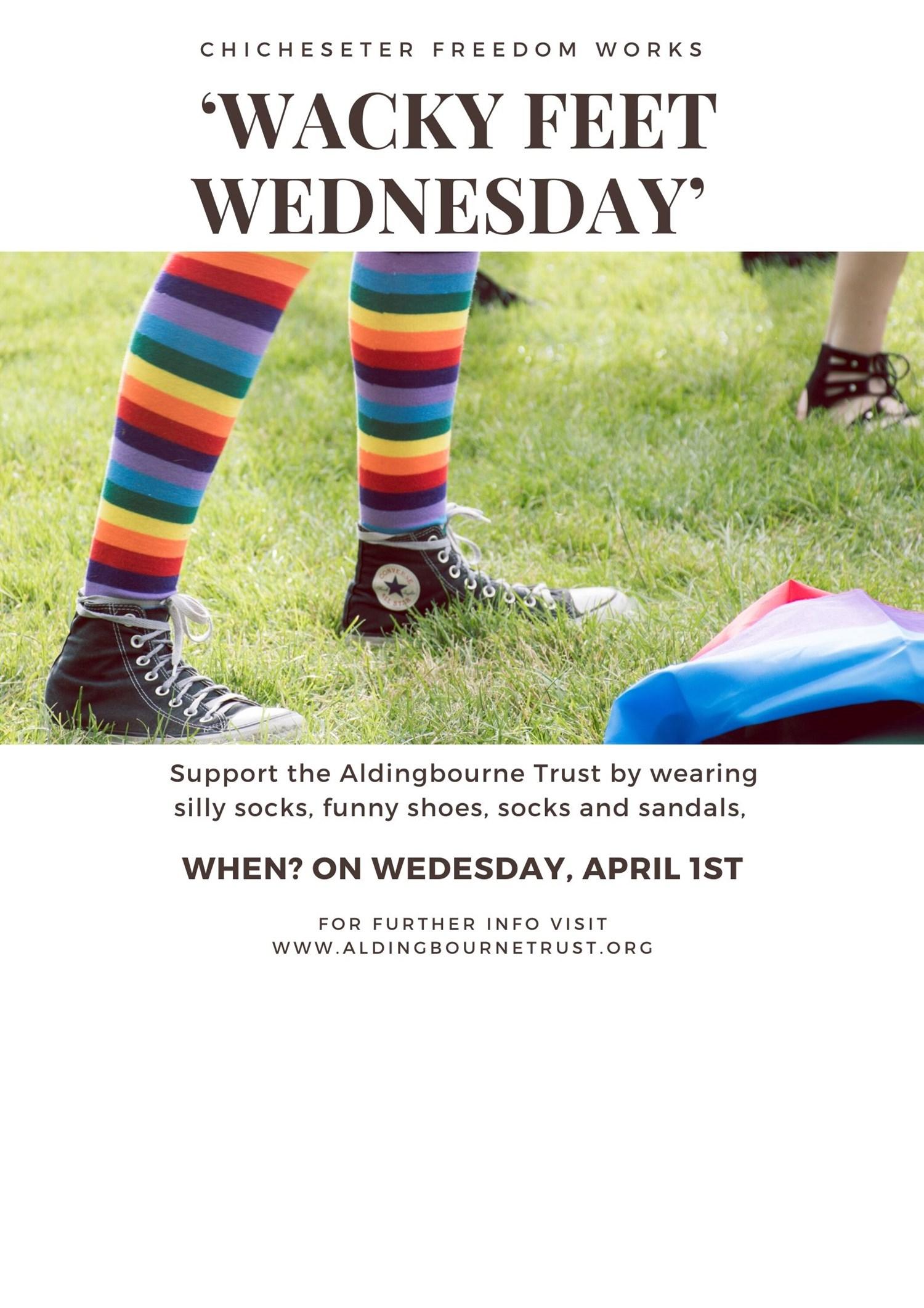 Wacky Feet Wednesday in support of The Aldingbourne Trust